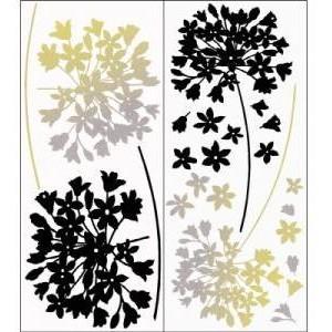Snap 2 Sheets Multi Coloured Agapanthus Flower Wall Art.