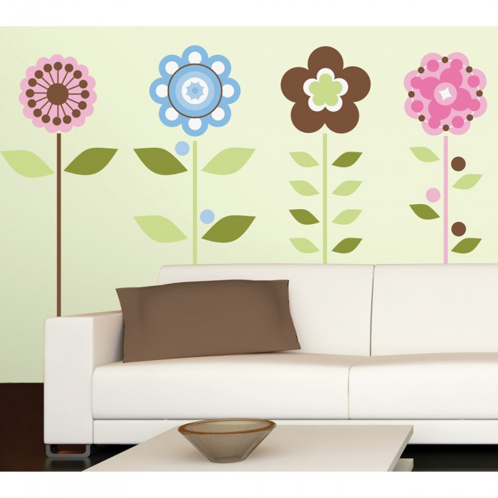 RoomMates Growing Flowers Giant Wall Decals.