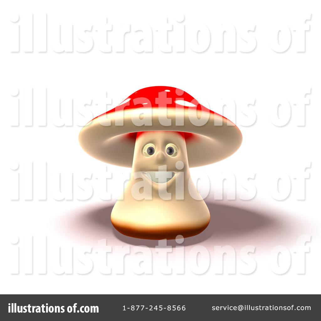 Fly Agaric Mushroom Character Clipart #56078.