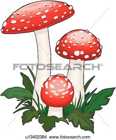 Clipart of Amanita Mushroom u13402384.