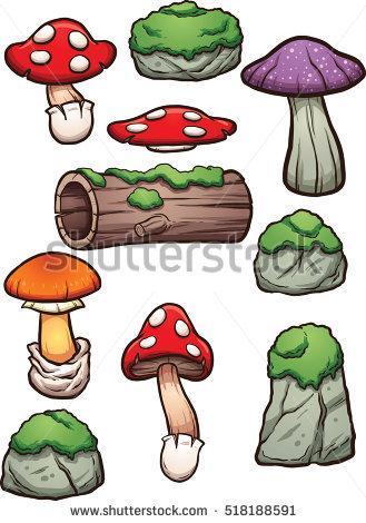 Cartoon Mouths Eyes Vector Clip Art Stock Vector 509436208.
