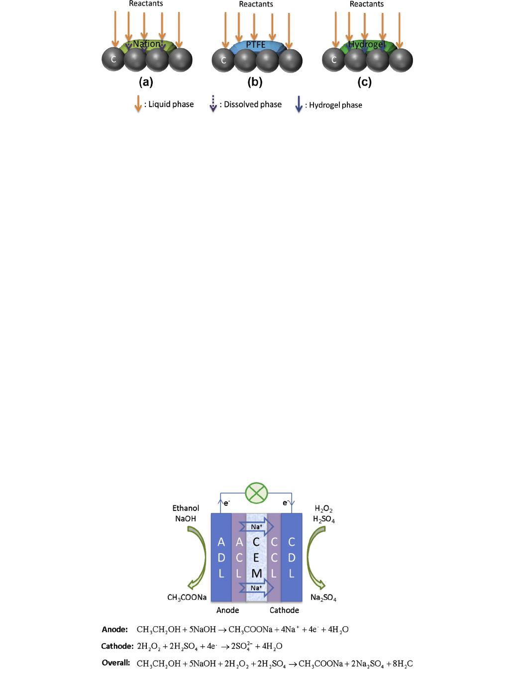 Agar chemical hydrogel electrode binder for fuel.