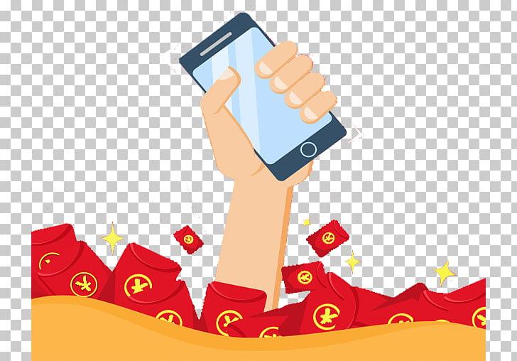 Sobre rojo, h5 teléfono creativo agarrar un sobre rojo PNG.