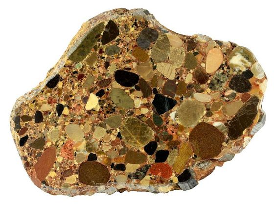 Variety of conglomerate known as puddingstone.