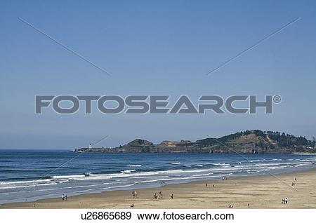 Stock Photograph of USA, Oregon, Agate Beach u26865689.