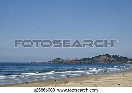 Stock Photograph of USA, Oregon, Agate Beach u26865689.