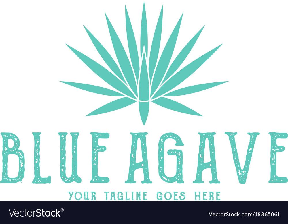 Blue agave logo.