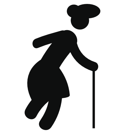 Stick figure Silhouette Old age Person.