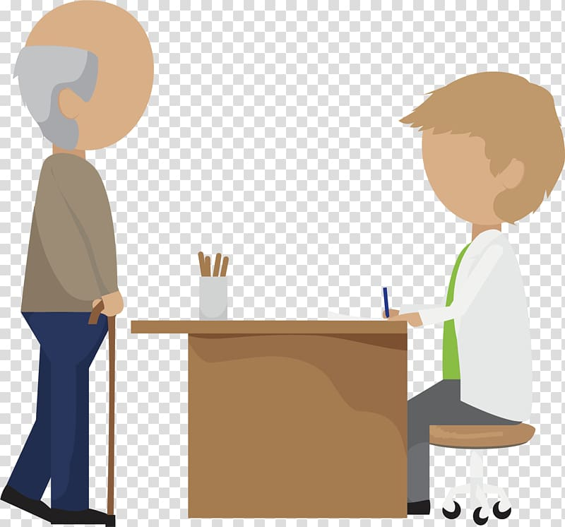 Old age Dementia , Doctor check transparent background PNG.