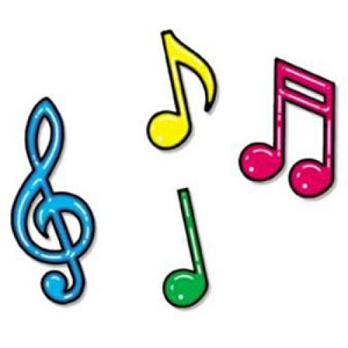 Colorful Musical Notes Clipart.