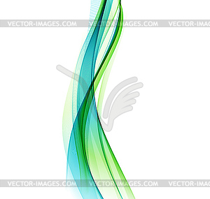 Abstract background, blue green wavy.