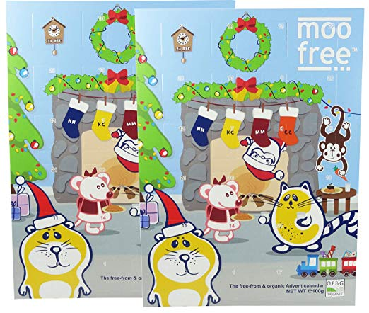 Moo Free Dairy Free Chocolate Advent Calendar 100g (Pack of 2).
