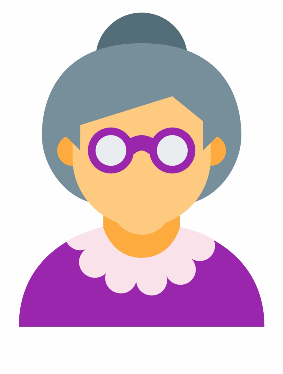 Woman Computer Old Age Icons Png Free Photo Clipart.