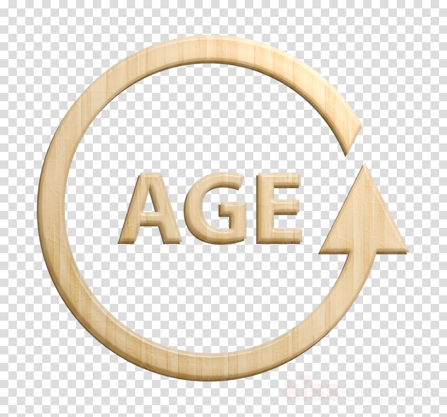 circular line with word age in the center icon icon Spa and.