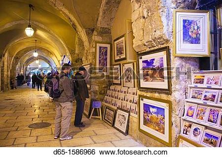Stock Images of Israel, Jerusalem, Old City, Jewish Quarter.