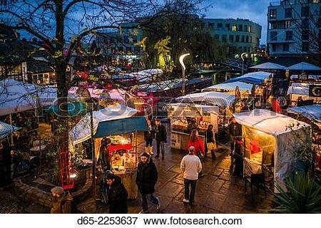 Picture of England, London, Camden, Camden Market, outdoor food.