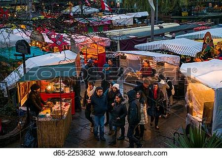 Stock Photo of England, London, Camden, Camden Market, outdoor.