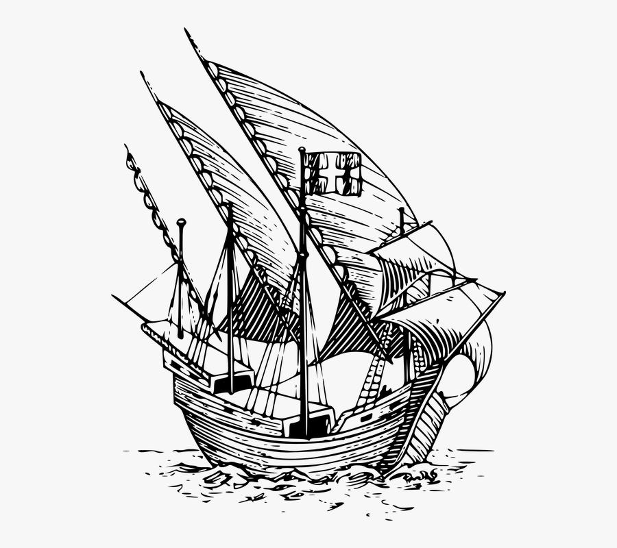 Caravel Clipart Explorer Ship.