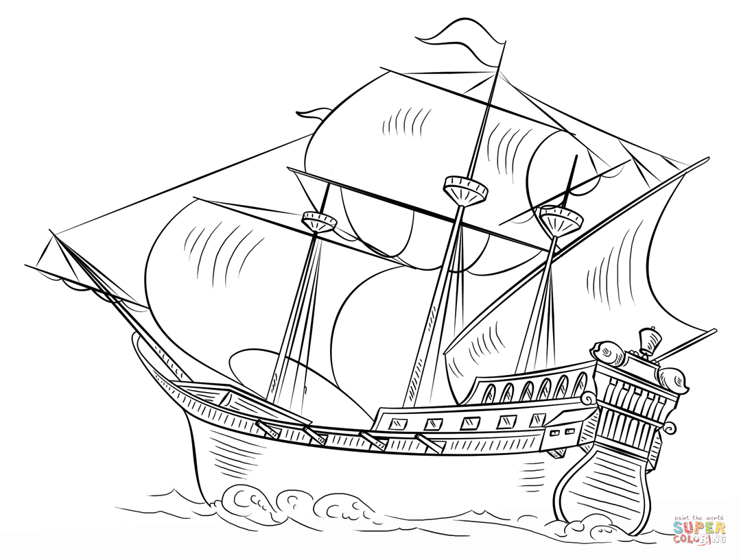 Ships and Boats coloring pages.