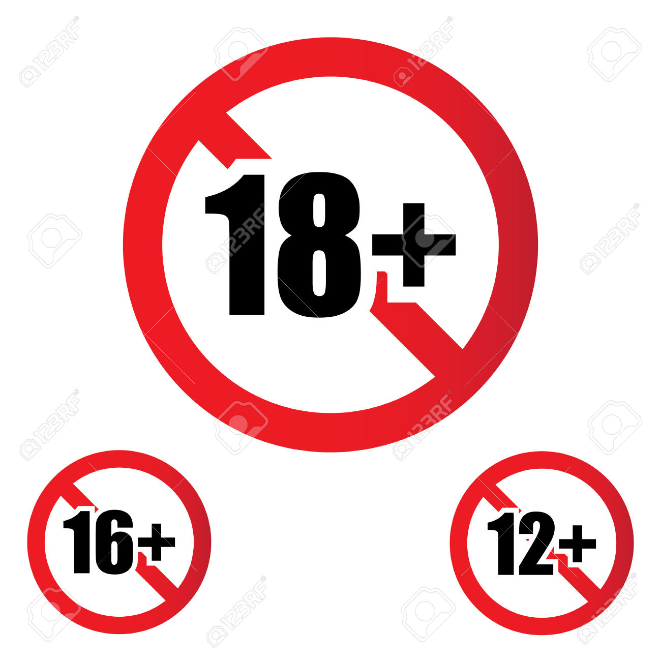 Restriction sign clipart.