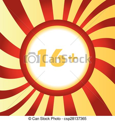Clip Art Vector of Age restriction abstract icon.