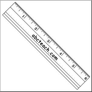 Clip Art: Ruler B&W I abcteach.com.