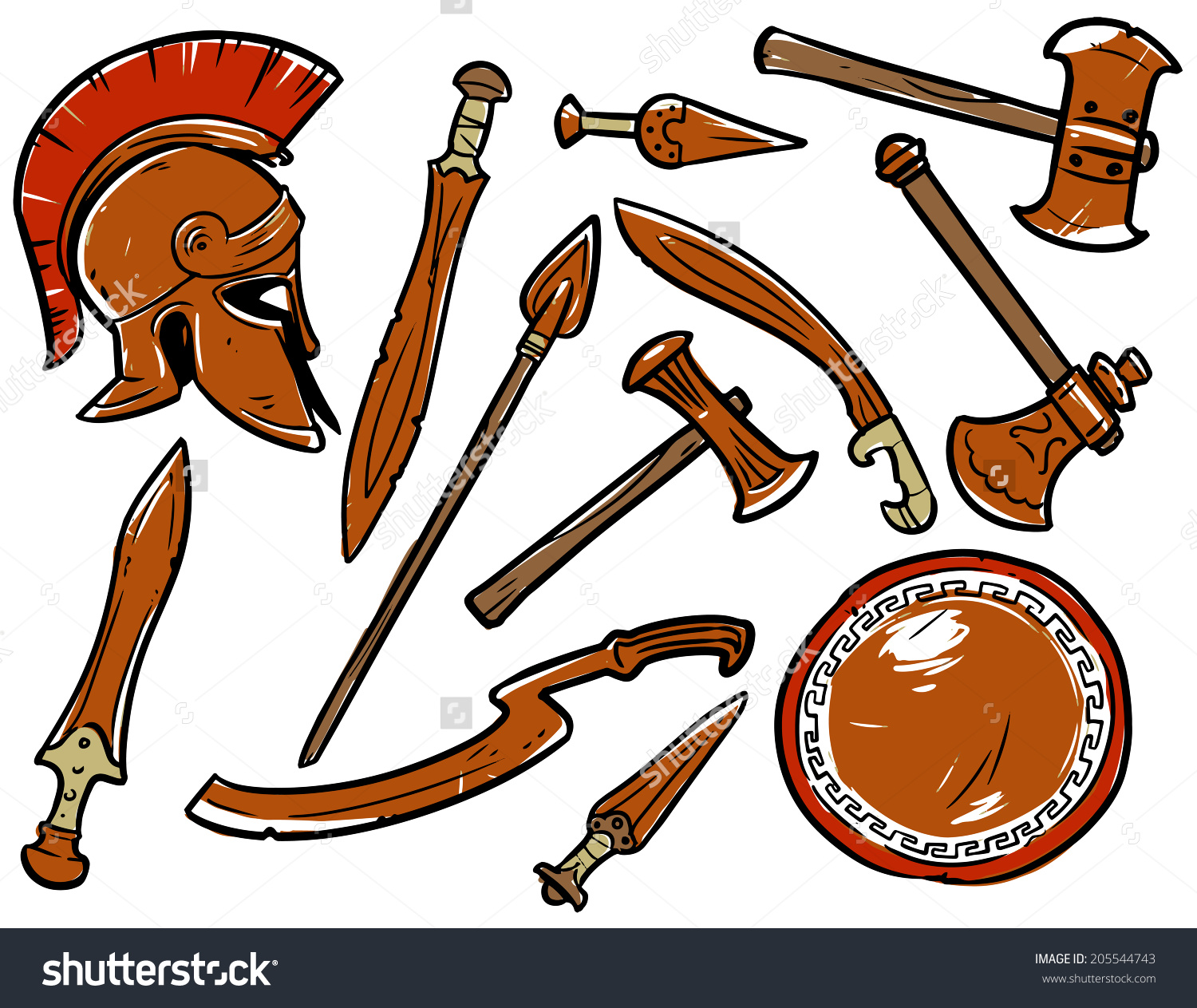 Stone Age Weapons Clipart.