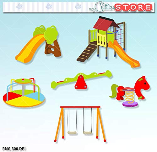 Amazon.com: Play Date Playground Clipart. Cute seesay.