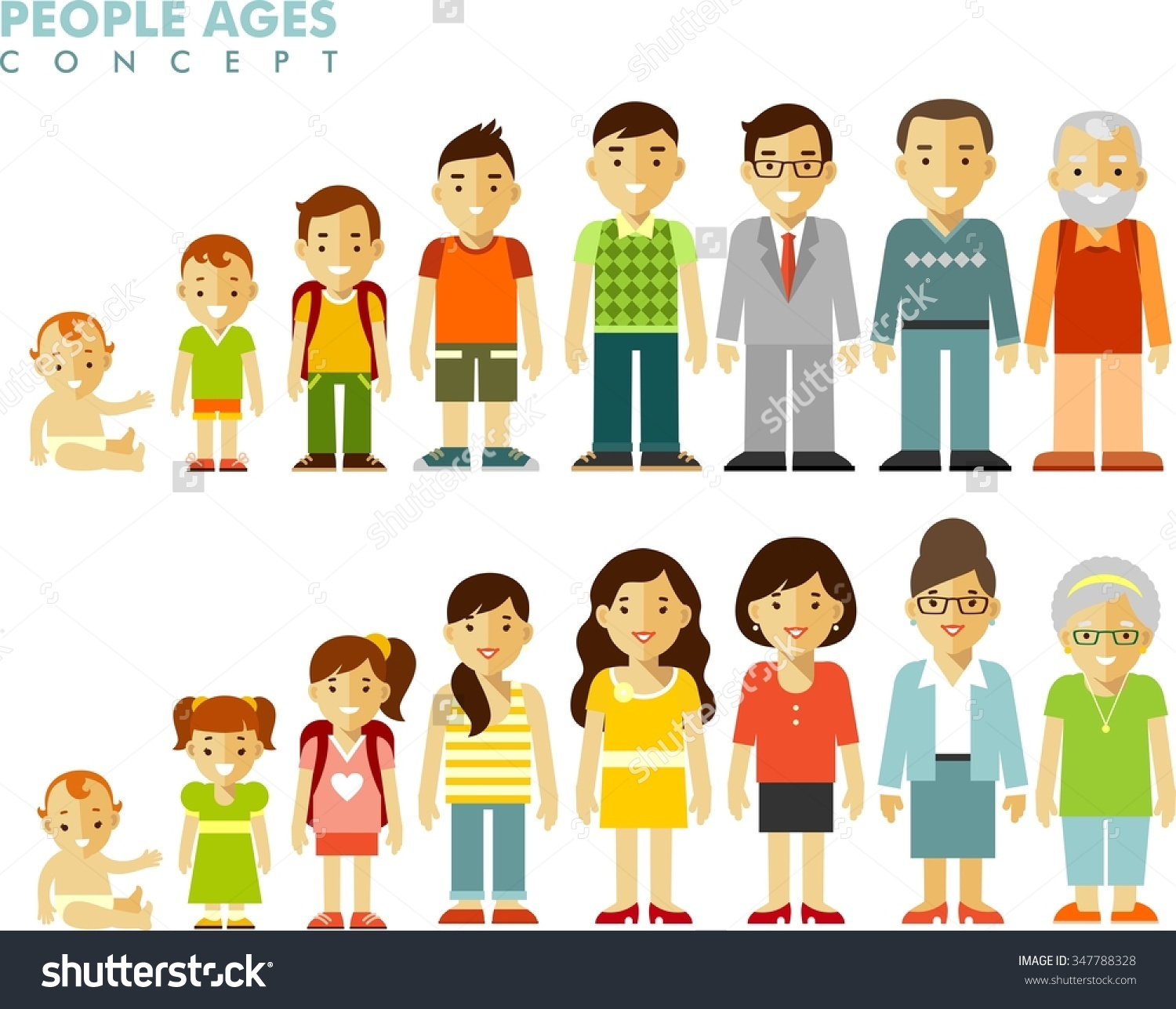 Different ages clipart.