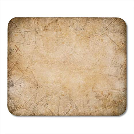 Amazon.com : Deeoor Mouse Pads Brown Old Aged Treasure Map.
