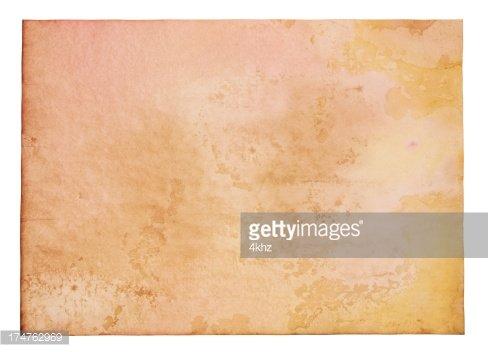 Large Blank Vibrant Aged Parchment Papyrus Grunge Paper.