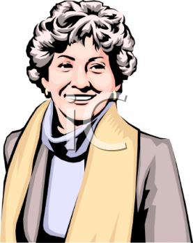 Royalty Free Clip Art Image: Realistic Style Middle Aged Woman.