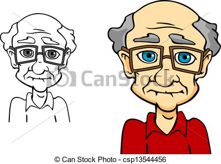 Clipart Vector of Senior man.