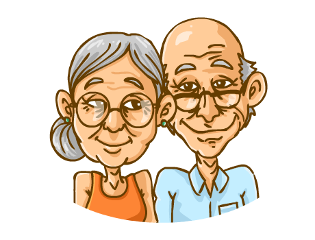 Aged people clipart.