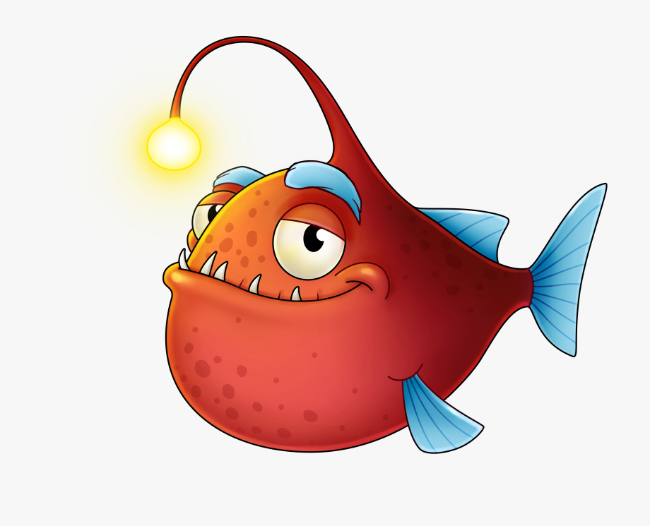 Angler Fish Clipart.