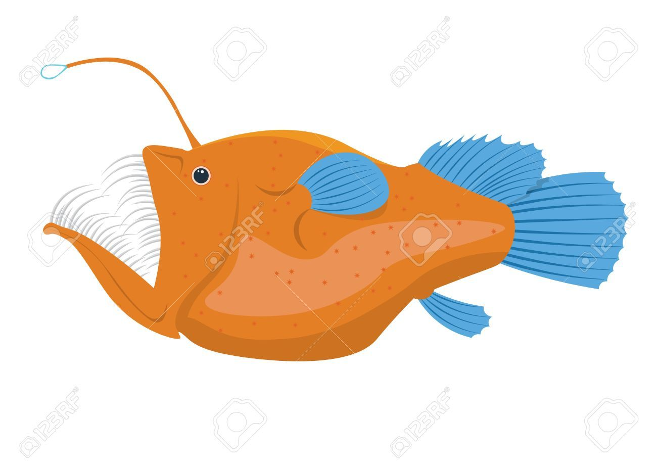 Image result for anglerfish clipart.