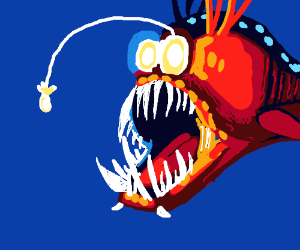 Angler fish from Finding Nemo.