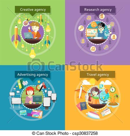 Advertising agency Vector Clip Art Illustrations. 2,649.