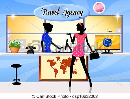 Clipart travel agent.