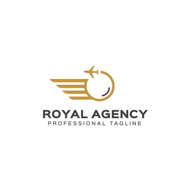 Royal agency logo template Vector.