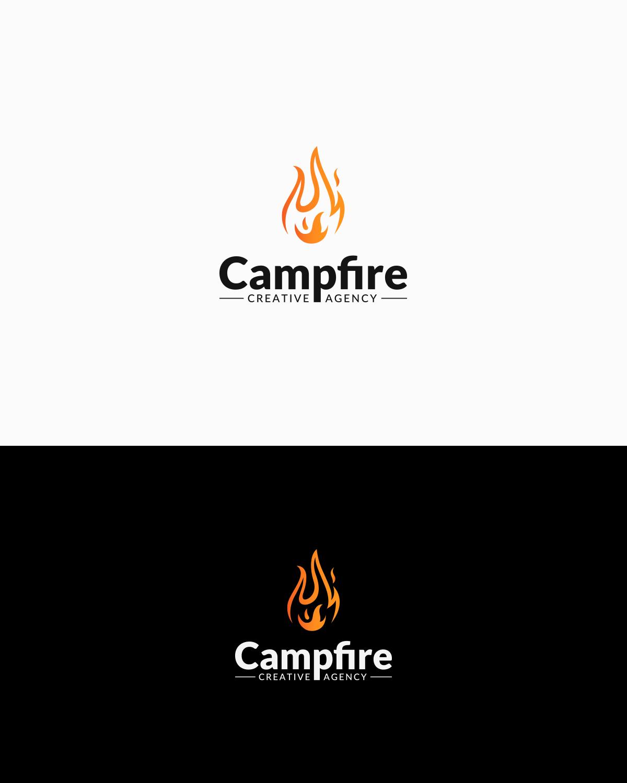Campfire Creative Agency logo design.