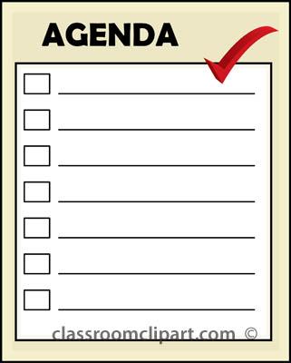 Agenda Clip Art Free.