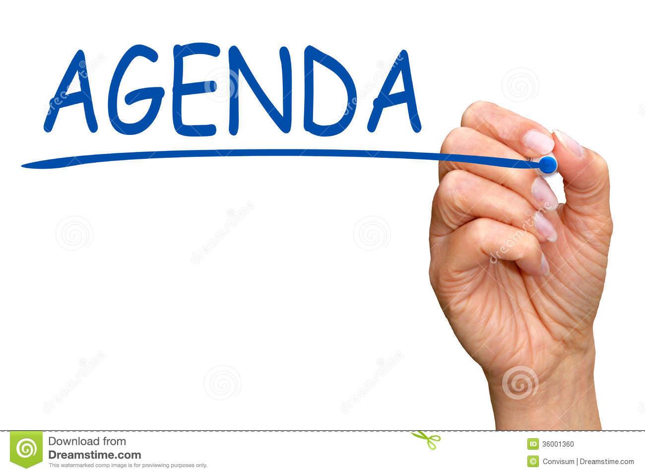 Agenda Clipart Free.