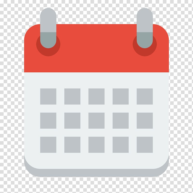 Square red and white illustration, Calendar date Computer.