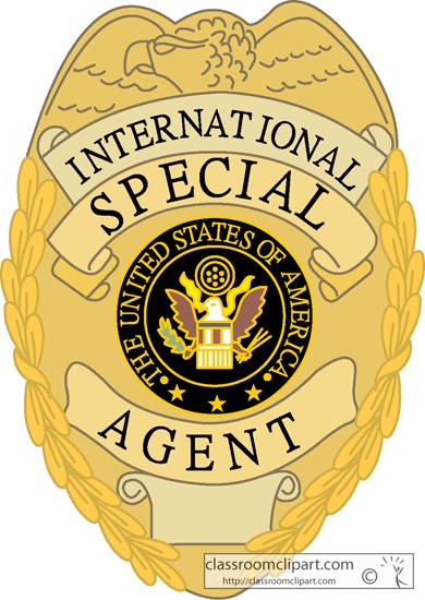 Secret Agent Badge Clipart.