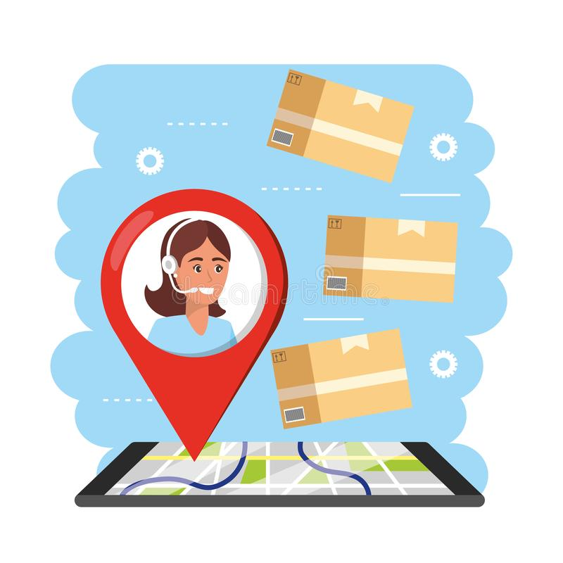 Delivery Agent Stock Illustrations.