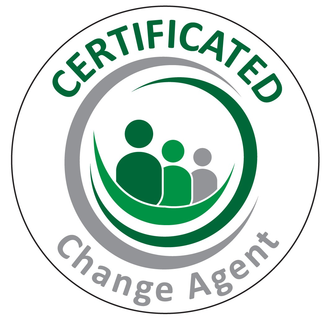 Certified Change agent.