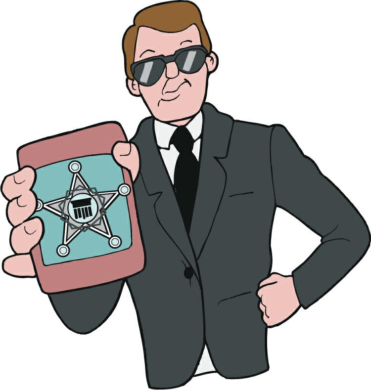 Special agent clipart.
