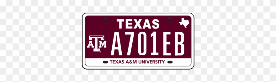 Aggie Plate With Logo Aggie Plate With Maroon.