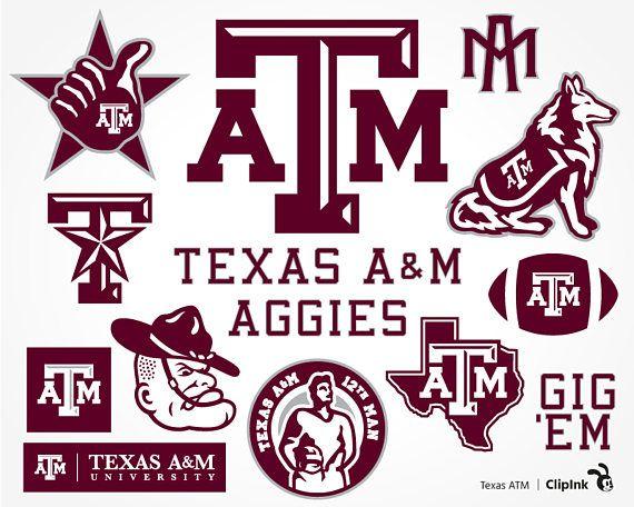 Texas ATM svg ATM clipart Texas Aggies svg Aggies clipart.